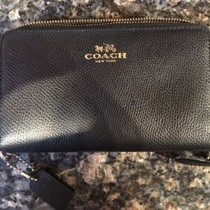 Double zip black Coach Wallet